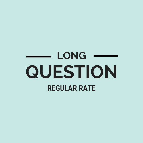 Long Question Regular Rate